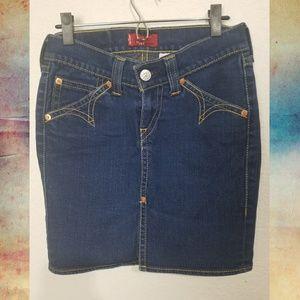 Levi's Western pencil skirt Vintage Rockabilly S